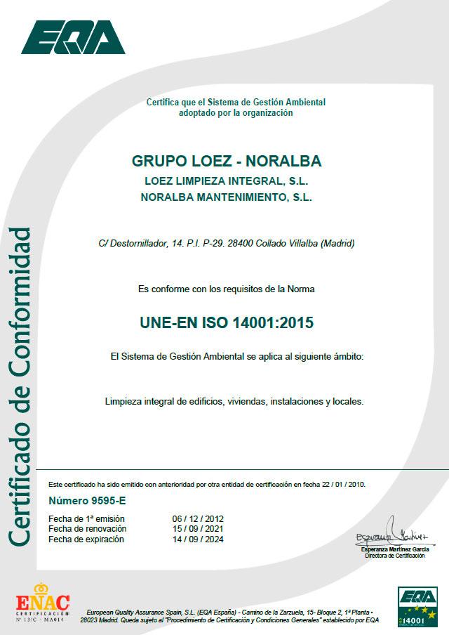 certificado-iso-14001-limpiezas-loez-noralba